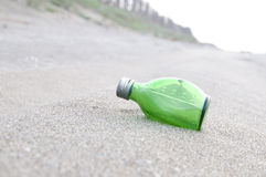 Groene Fles stock afbeelding
