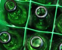Groene flessen Stock Foto