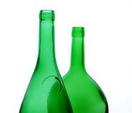 Groene flessen royalty-vrije stock foto