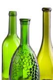 Groene flessen Stock Afbeelding