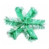 Groene fonkelingssneeuwvlok Stock Fotografie