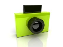 Groene fotocamera Vector Illustratie