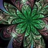 Groene fractal bloem stock illustratie