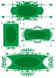Groene Frames Royalty-vrije Stock Afbeeldingen