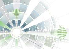 Groene futuristische pijl Stock Foto