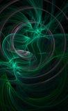 Groene galactische achtergrond Stock Afbeeldingen