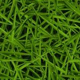 Groene gazontextuur met waterdalingen in een naadloos patroon Stock Foto