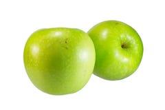 Groene geïsoleerde appel, Stock Afbeeldingen