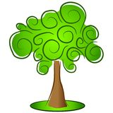 Groene Geïsoleerde Boom Clipart vector illustratie