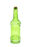 Groene geïsoleerde glasflessen Stock Afbeelding