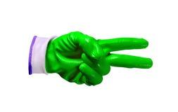 Groene geïsoleerde het werkhandschoenen Royalty-vrije Stock Foto