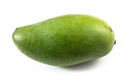 Groene geïsoleerde mango Stock Fotografie