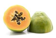 Groene geïsoleerde Papaja stock fotografie