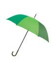 Groene geïsoleerdea paraplu - Stock Afbeeldingen