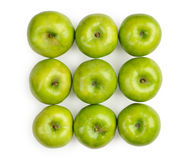 Groene geïsoleerdek appel Stock Afbeelding