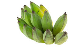 Groene Geïsoleerdeo Bananen Royalty-vrije Stock Fotografie