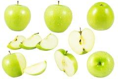 Groene geïsoleerdeu appel Royalty-vrije Stock Foto