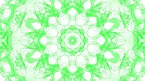 Groene geanimeerde abstracte achtergrond Caleidoscoop 3d geef terug vector illustratie