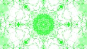 Groene geanimeerde abstracte achtergrond Caleidoscoop 3d geef terug stock illustratie