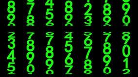 Groene geanimeerde cijfers vector illustratie