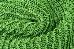 Groene gebreide truiachtergrond Stock Fotografie
