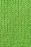 Groene gebreide wol dicht omhoog Stock Afbeelding