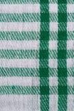 Groene gecontroleerde stof Stock Afbeelding