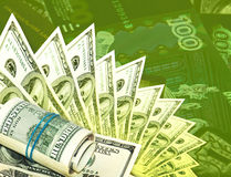 groene geldachtergrond Stock Foto's