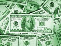 Groene geldachtergrond Royalty-vrije Stock Foto's
