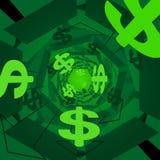 Groene geldachtergrond Stock Foto