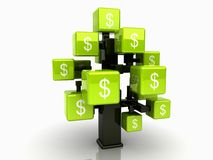 Groene geldboom Royalty-vrije Illustratie