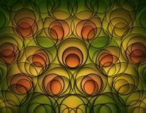 Groene gele en oranje abstracte achtergrond Royalty-vrije Stock Afbeelding