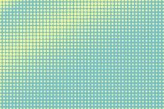 Groene gele gestippelde halftone Diagonale overmaatse gestippelde gradiënt vector illustratie