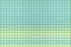 Groene gele gestippelde halftone Horizontale contras gestippelde gradiënt vector illustratie