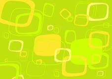 Groene, gele rechthoekvector vector illustratie