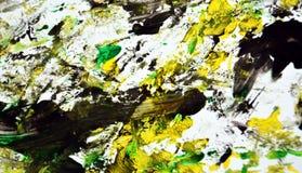 Groene gele zwarte donkere contrasten, de achtergrond van de verfwaterverf, abstracte het schilderen waterverfachtergrond royalty-vrije stock afbeeldingen