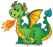 Groene gelukkige draak stock illustratie