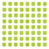 Groene gelukkige Ierse klaver grote reeks leuke gelukkige smileyemoties voor stPatricksdag, vectorillustratie stock foto