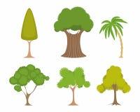 Groene geplaatste bomen Stock Afbeeldingen