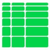 Groene Geplaatste het Praatje Lege Bellen van Smartphone SMS Vector Stock Afbeeldingen