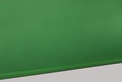 Groene gerolde fotografische witte vloer als achtergrond Stock Foto