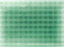 Groene geruite stoffenachtergrond Royalty-vrije Stock Foto's