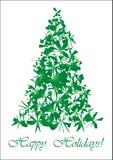 Groene gescheurde Kerstboom Stock Afbeelding