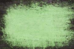 Groene geschilderde artistieke canvasachtergrond Stock Afbeelding