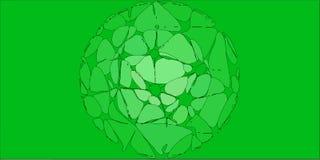 Groene Gestileerde Bloemenachtergrond vector illustratie