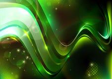 Groene gestippelde samenstelling Vector Illustratie