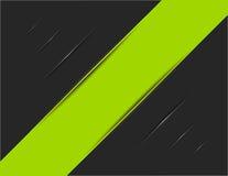 Groene Gestreept op Zwart Spoor Stock Afbeeldingen