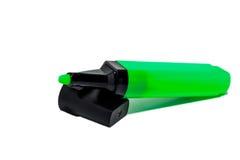 Groene gevoelde geïsoleerde pen - Royalty-vrije Stock Foto