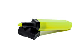 Groene gevoelde pen - Stock Foto's