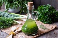 Groene gezonde olie Stock Fotografie